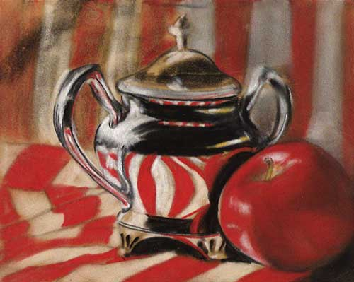 'Red, White & Silver' by Karen Hargett